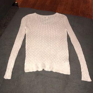 Light beige v neck sweater